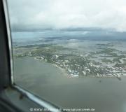 Luftbild: Blick auf Cedar Key aus der Luft.