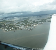 Luftaufnahme von Cedar Key in Florida.