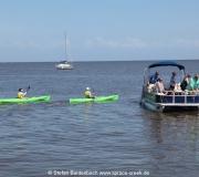 Boote  im Golf von Mexiko von Cedar Key in Florida.