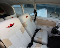 Mooney M20F N6377Q new Interior - made and installed by Enriques Aircraft Upholstery and Interiors in Williston / Florida