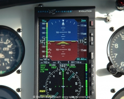 147 KTS True Airspeed (TAS) in 11500 feet displayed on the Aspen 1000 Pro PFD shwos that the Mooney M20 F N6377Q is a good airplane for long distance travel. --- Mooney M20F IMG_1101