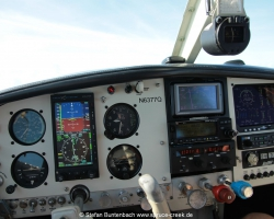Mooney M20F N3677Q Cockpit with Aspen 1000 Pro PFD and JPI EDM 930 Engine Monitor