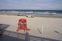 am Strand des Atlantik bei Daytona Beach
