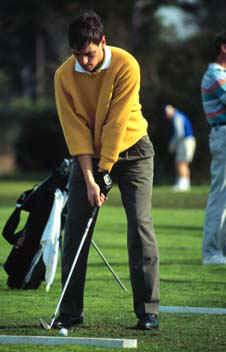 Golfspieler auf der Driving Range in Spruce Creek in Florida