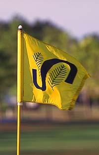Golf Fahne mit Spruce Creek Logo / Spruce Creek Fly In Community in Florida