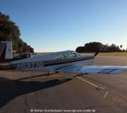 Mooney M20F N6377Q auf dem  Jekyll Island  Flugplatz im Süden von Georgia, USA.