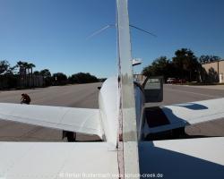 Mooney M20F, N6377Q, seen from the tail. --- Mooney M20 IMG_6842fl2010