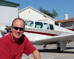 Stefan Buntenbach with Mooney M20F N6377Q in Spruce Creek, Florida. Mooney M20 IMG_6849fl2010