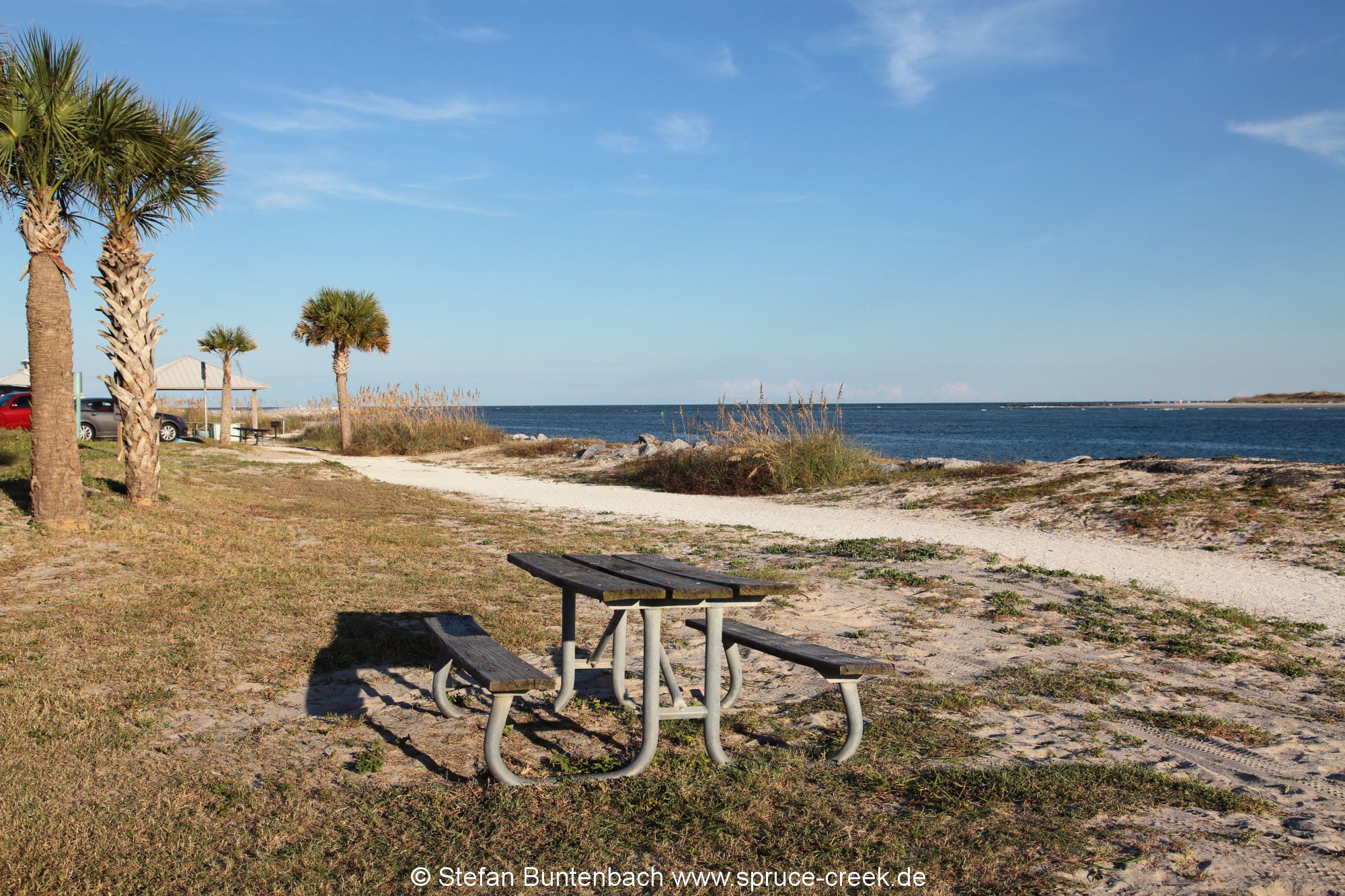 Picknick-Platz am Ponce Inlet in Florida