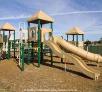 Kinderspielplatz in der Spruce Creek Fly In Community, der größten Fly In Community der Welt.