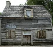 Ältestes Schulhaus der USA aus Holz in St Augustine, Florida.
