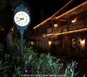 Uhr in St Augustine Florida bei Nacht