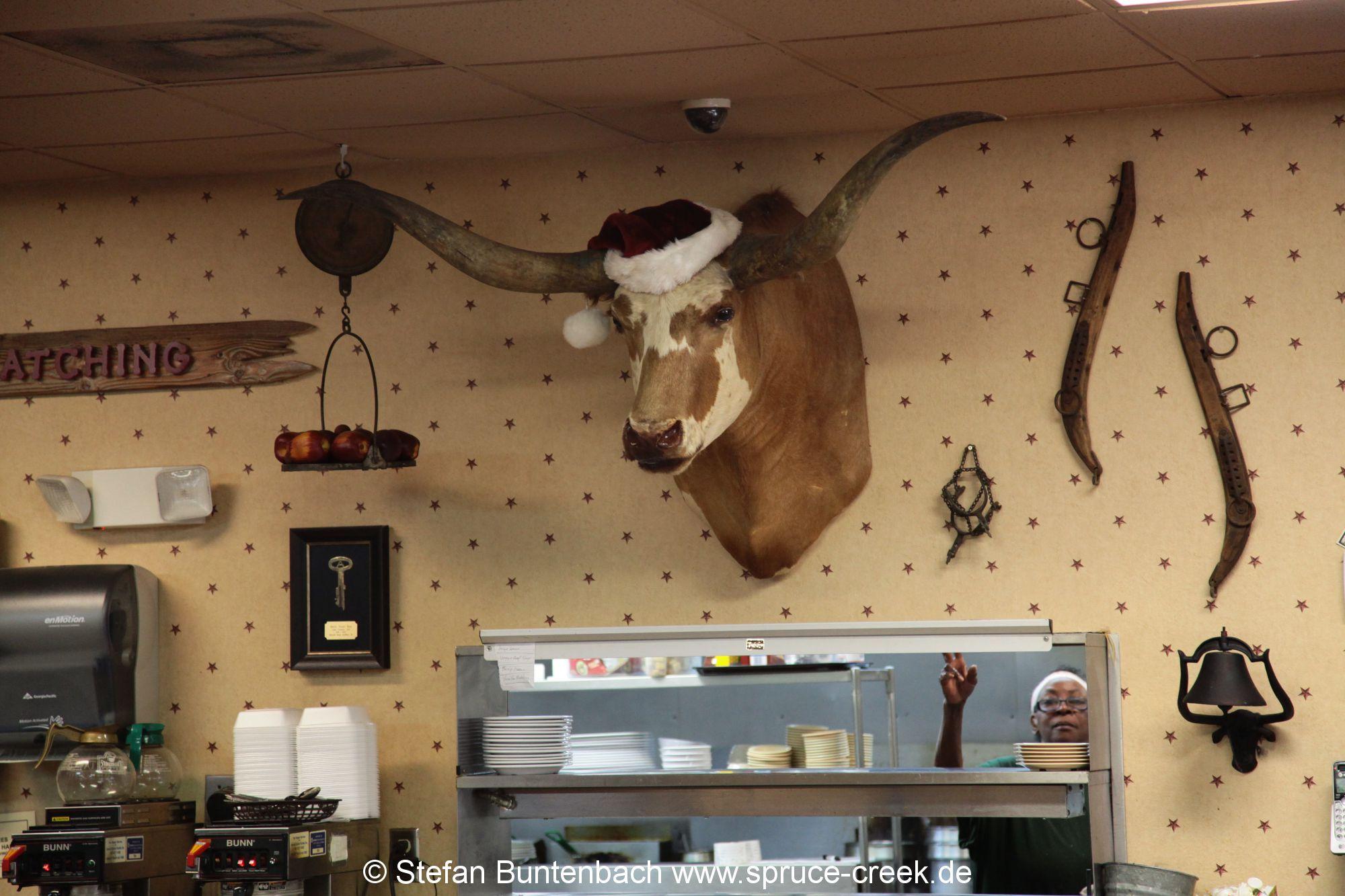 Die Einrichtung des Restaurants Mason Jar in Umatilla, Florida,  ist rustikal. --- IMG_8013