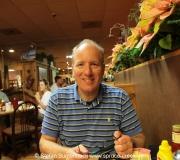 Spruce Creek Pilot Stefan Buntenbach im Restaurant Mason Jar in Umatilla, Florida. ---  IMG_8005