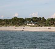 Gemütliches Treiben am Strand von Venice in Florida am Golf von Mexiko.