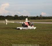 Boatpix-Hubschrauber, gesehen am Flughafen in Venice, Florida.